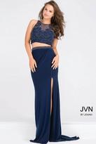 Jovani Embellished Bodice Two Piece High Slit Dress JVN50203