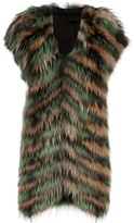 Liska Fox fur long gilet