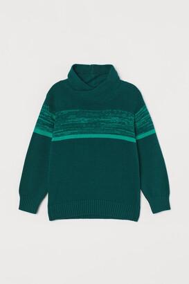 H&M Chimney-collar Sweater - Green