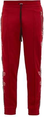 Amiri Souvenir Dragon-embroidered Track Pants - Mens - Red