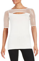 Bailey 44 Mesh-Accented Top