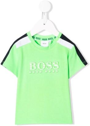 Boss Kids contrast logo T-shirt