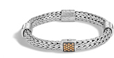 John Hardy Women's Classic Chain 7.5MM Bracelet in Sterling Silver with Mandarin Garnet