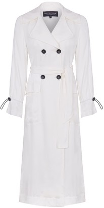 Whyte Studio The React Fluid Silk Trench White