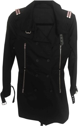 The Kooples Black Cotton Trench Coat for Women