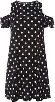 Dorothy Perkins Black Polka Dot Skater Dress