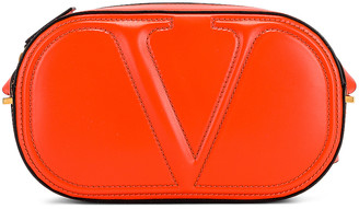 Valentino VLogo Walk Crossbody Bag in Goldfish | FWRD