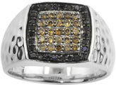 Black Diamond FINE JEWELRY Mens CT. T.W. Champagne & Color-Enhanced Ring
