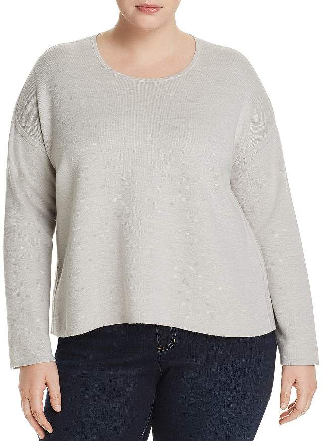 Eileen Fisher Plus Reversible Boxy Sweater