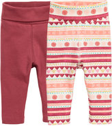 H&M 2-pack Leggings - Dark red - Kids