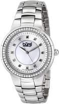 Burgi Women's BUR093SS Analog Display Swiss Quartz Silver Watch