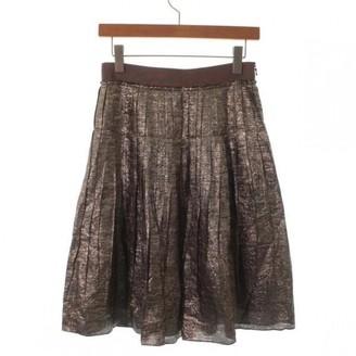 Lanvin Gold Silk Skirt for Women