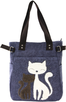 Denim Lovely Cats Tote