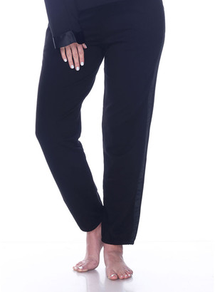 PJ Harlow Blair French-Terry Jogger Pants w/ Satin Trim