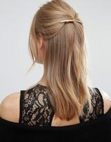 Orelia Long Slim Brushed Hair Clip