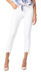 Liverpool Abby Frayed Crop Skinny Jeans