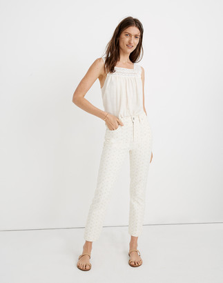 Madewell The Perfect Vintage Jean: Embroidered Eyelet Edition