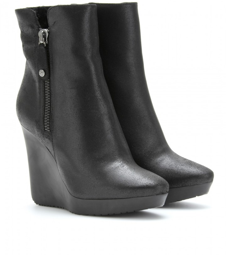 Jimmy Choo BLANCH LEATHER WEDGE ANKLE BOOTS