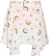 A.L.C. Daro printed silk-georgette mini skirt