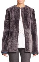 Thakoon Collarless Shearling Coat