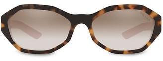 Prada Conceptual 56MM Geometric Sunglasses