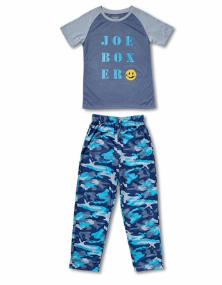 Joe Boxer boys Joe Army Tee/Pant Pajama Sets
