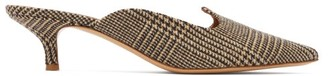Giuliva Heritage Collection X Le Monde Beryl Venetian Checked Mules - Brown Multi