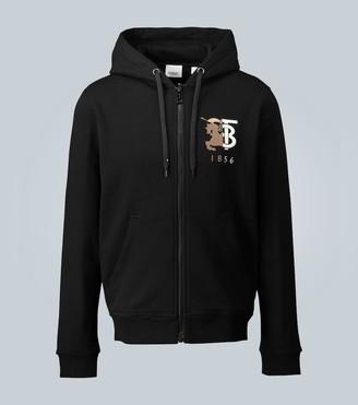 Burberry Zip-up hooded sweatshirt with logo