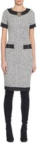 St. John Tweed Short Sleeve Dress