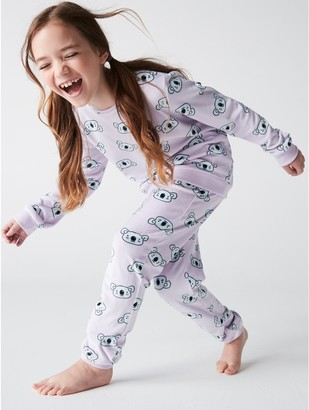 M&Co Koala print fleece pyjama set (1-12yrs)