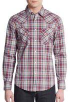 Ben Sherman Regular-Fit Plaid Cotton Sportshirt