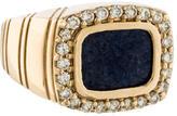 Ring Diamond & Azurite Signet