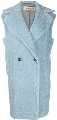 Blanca Vita Oversized Sherpa Sleeveless Coat