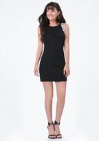 Bebe Embellished Shoulder Dress