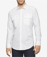 Calvin Klein Jeans Men's Modern Long-Sleeve Military Shirt