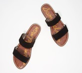 Sam Edelman Leather Double Strap Slide Sandals - Gala