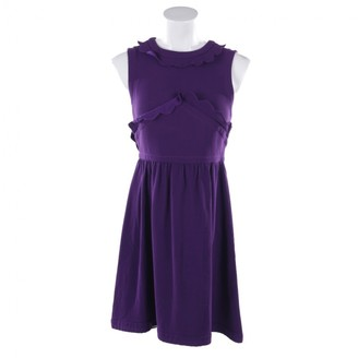 Miu Miu Purple Leather Dresses