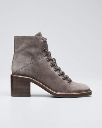 Vince Falco Two-Tone Suede Combat Booties