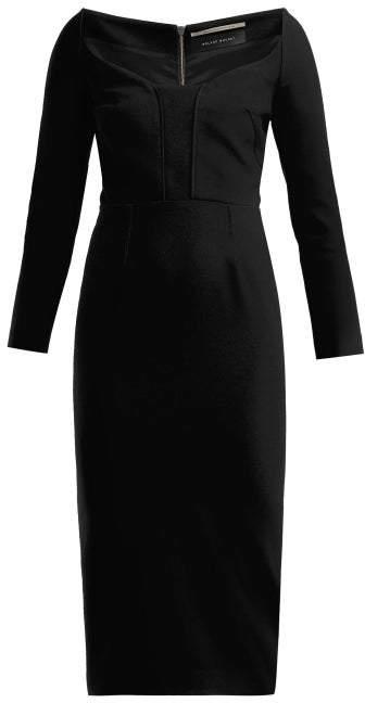 Roland Mouret Ardon Crepe Dress - Womens - Black