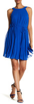 Chetta B Sleeveless Pleated Waist Tie Dress