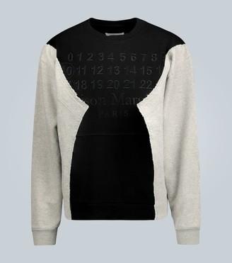 Maison Margiela Oversized raw-edged sweatshirt