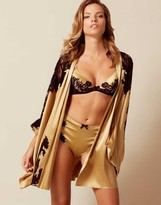 Agent Provocateur Nayeli Kimono Gold And Black