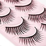 Pro 5 Different Pairs Natural Makeup False Eyelashes Eyelash Long Cross Handmade