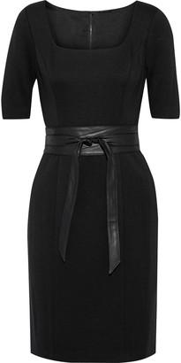 Elie Tahari Siona Belted Cady Mini Dress
