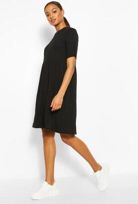 boohoo Tall Jersey Smock Dress