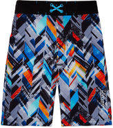 Free Country Boys Pattern Swim Trunks-Big Kid