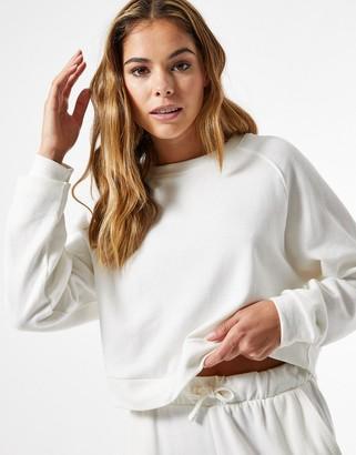 Miss Selfridge sweatshirt co-ord in ecru