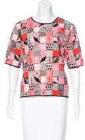 MSGM Embroidered Patchwork Top