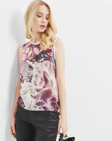 Ted Baker Illuminated Bloom Vest Top Mid Grey