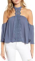 BP Crochet Off the Shoulder Halter Top